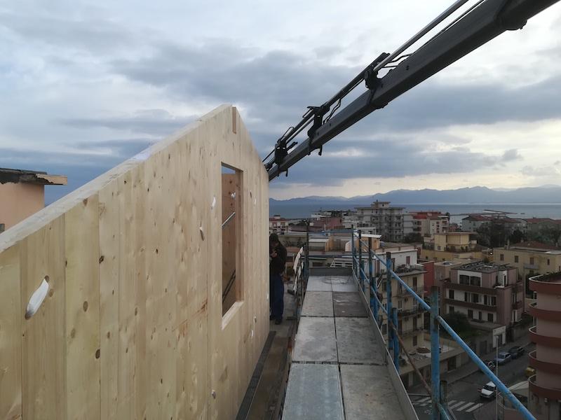 Sopraelevazione in Xlam a Cagliari